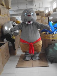 Wholesale Sea Lion Costumes - Cute Sea lion Seal Mascot Costume Quality Animal Fancy Dress Party Xmas Birthday Adult Size Adult Size Mascot Free Shipping