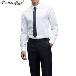 Wholesale Dress Shirts For Boys - Wholesale- 2016 Spring New Chemise Homme Plus Size Business Formal Camisa Masculina Long Sleeve White Shirts For Men Boy Perfect Fit Suit