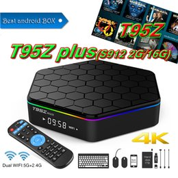 Wholesale Openbox Iptv - 2018 Best selling Luxury IPTV BOX T95Z Plus Octa Core S912 2GB+16GB Android 7.1 TV 5GHz Dual band WiFi Bluetooth4.0 Better Openbox