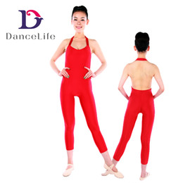 Wholesale Red Unitards - Free shipping A2630 Leak Back Sexy Unitard ballet dance unitards hot sell unitard