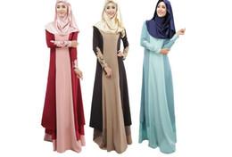 Mujeres islámicas kaftan online-Abaya mujeres turcas vestidos musulmanes vestido islámico jilbabs y abayas musulmane vestidos longos pavo hijab ropa dubai kaftan M056