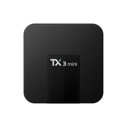 Wholesale Android Dlna - TX3 Mini TV BOX 2GB 16GB Quad Core Amlogic S905W Smart Box Android 7.1 Full Loaded Media Player Support Wifi DLNA 3D