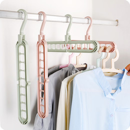 Wholesale Clothing Rack Wholesale - Multi-functional Anti-slip Clothing Hanger Cloth Storage Hanger Rack Household Foldable Space Saving Wardrobe Cloth Clip Laundry Product