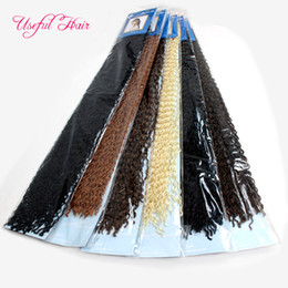 Wholesale Extension Hair Curly Micro - 24inch Micro knot crochet braids hair kinky curly braiding hair Micro Knot ZiZi are teeny tiny crimped premade braids for black women marley