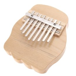 Wholesale Mini Wooden Instruments - Wholesale- Mini Round Wooden 8 Keys Finger Thumb Piano Musical Instrument NEW Gift free shipping