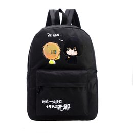 Wholesale Grey Fairy Tail - Wholesale- Fairy Tail Backpack for Girls Fairy Tale Bag for School Canvas Japan Anime Printing Pattern SchoolBag for Middle School Students