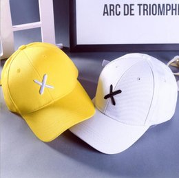 Wholesale Korean Hot Product - Hot summer hat children Korean fashion X letter Embroidered Baseball Cap summer hip hop personality peaked cap street single product