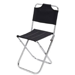 black chairs Coupons - Multifunctional Folding Stool Folding Chair For Fishing Chair With Backrest Stool Aluminum Alloy Fishing Stool Free Shipping
