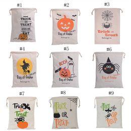 Wholesale Handbag Kids - Christmas gift bag Handbag Halloween pumpkin printing Drawstring bag kids candy bag 48*36cm C2483
