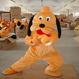 Wholesale Custom Dog Dresses - Mig dog Goofy Mascot Fancy Dress cartoon Costume Adult Size EPE Suit walking Big head doll