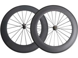 Wholesale Carbon Wheelset China - SAT No outer holes 23mm Width 88mm clincher Tubular carbon wheels road bike wheelset ready compatible China Carbon Wheels