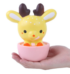 Wholesale 15CM Squishy Jumbo Kawaii Cup Deer Cream Scented Very Slow Rising Decompression Squeeze Toys For Kids Doll Gift Fun