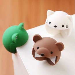 Wholesale Animal Rights - Cute Baby Table Desk Corner Protector Animal Shaped 3.8cm Safe Kids Silicon Anticollision Cushion Cat Frog