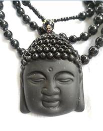 Ornamento de buddha do jade on-line-Colar Obsidian Natural Fashion Preto Ruyi Pendant Buddha For Women Men Vintage Belas Jade Jóias Ornamentos B4