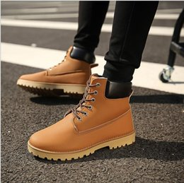 Wholesale Men Mountaineering Boots - 2017 new spring winter Martin boots warm England men tooling mountaineering men's shoes