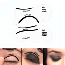 Canada Vente chaude Smokey yeux regard Cat Eye Smokey Eye Maquillage Eyeliner Modèles Modèle Top Eyeliner inférieur Carte Outils auxiliaires Sourcils Pochoirs Offre