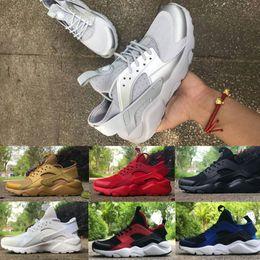 Wholesale Lights For Cheap - 2017 Air Huarache IV Running Shoes For Men&Women High Quality Cheap Sneakers Air Huaraches Run Sports Running Shoes Triple White Black