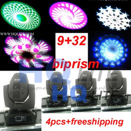 Wholesale Spot Moving Head Light Wash - new arrive stage disco biprism 32+9 moving head light 230w 7R 3in1 beam spot wash zoom light 2pcs+case