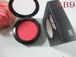 Wholesale Mirror Names - 1PCS FREE SHIPPING MAKEUP Lowest NEW product Shimmer Blush 24 color No mirrors no brus 6g English Name