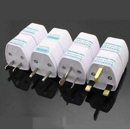 Wholesale White Ac Adapter - Universal Travel Adapter EU US AU to UK AC Travel Power Plug Charger Adapter Converter 250V 10A Socket Converter White