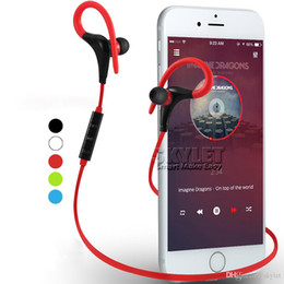iphone stereo player Promo Codes - Bluetooth Headphones Sport Wireless Headset Hook Stereo Music Player Neckband Earphones Jogging Headphones For Iphone 7 With Retail Box
