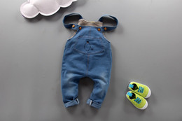 Wholesale Kids Overalls Pants - Baby Pants Kids Clothing Baby Denim Overall Trousers Suspender Trousers Classic Pants Baby Kids Bib Pants Infant Jeans
