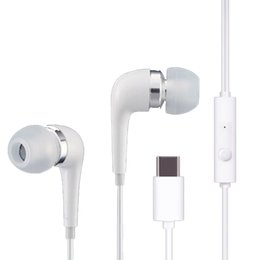 Wholesale Ear Buds Microphone - Type-C Headset In Ear Type C Earphone Line Control HIFI Stereo Ear Buds With Microphone Headset For letv mobile