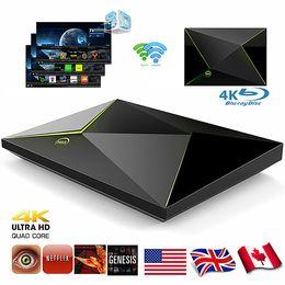 Wholesale Set Box Hdmi - M9S Z8 2G 16G Amlogic S905x Quad Core Android 6.0 Smart TV Box 4K Mini PC 2.4GHZ+5.8GHZ Wifi set top box Bluetooth HDMI