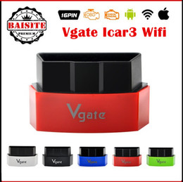 Wholesale Wifi Elm Interface - 2017 New Vgate iCar3 Vgate icar 3 Wifi ELM327 OBD OBDII OBD2 Wi-fi ELM 327 Car Diagnostic interface Tool Support Android IOS PC