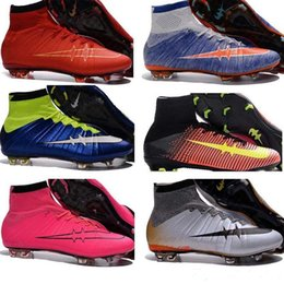 Wholesale Soft Winter Boots Kids - Mens Kids Mercurial CR7 Superfly V FG Football Boots Soccer Shoes Magista Obra Orden 2 Boys Soccer Cleats Women Children Sports Shoes Youth