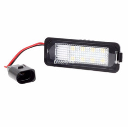 Wholesale Headlight Golf - 2x 8-Samsung-5050-SMD LED License Plate Light Error Free for VW Golf EOS