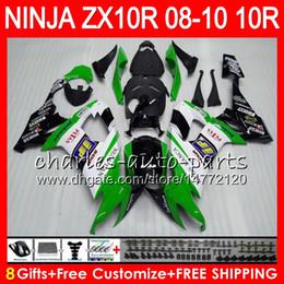 carenado rs Rebajas 8Regalos 23Colores Cuerpo Para KAWASAKI NINJA ZX 10 R ZX10R 08 09 10 47HM8 ZX 10R ZX1000 C ZX1000C Stock verde ZX-10R 2008 2009 2010 kit de carenado