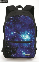 Wholesale Galaxy Print Bags - Wholesale- New Brand Women's 3D Galaxy Star Space Printing Backpack Casual Canvas Back Pack for Teenager Girls Boys OutdoorTravel Laptop