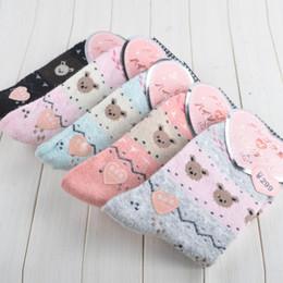 Wholesale Acrylic Teddy Bears - Wholesale-Free Shipping socks women warm winter Teddy Bear wild rabbit wool socks casual fashion a set of thick colored pure cotton meias