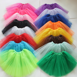 Wholesale Chiffon Pettiskirt Tutu Skirt - 21Colors Adults Tutu Dresses Womens Girls Ballet Dancewear Mini Short Skirt Pettiskirt Performance dance Costume Ball Gown stage party wear