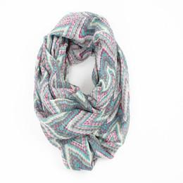 Wholesale Love Fashion Scarves - Wholesale- Guttavalli New Fashion Charm Stripe Geometric Ring Shawl Love Colorful Women Winter Chevron Loop Scarves Zig Zag Infinity Scarf