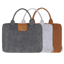 "Wholesale 13 Inch Laptop Briefcase - 13"" Portable Felt Carrying Notebook Sleeve Bag Handbag Case Cover with Handle & Zipper for MacBook MacBook Air Pro Lenovo Laptop PC"