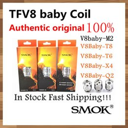 Wholesale Original Authentic - 100% Authentic Original Smok TFV8 BABY Beast Tank Coils Head V8 Baby T8 T6 X4 M2 Q2 0.4ohm Core Atomizer coil