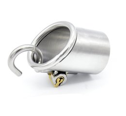 Wholesale Chastity Piercings - Latest piercing male chastity device penis cage adult sex toys for men bondage gear stainless steel puncture XCXA213