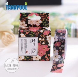 Wholesale Washi Tape Length - Wholesale- 2016 10 Meters Length Floral Washi Tape DIY Decoration Scrapbooking Planner Masking Tape Kawaii Stationery School Supplies