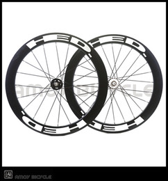 Wholesale Rear Wheel Tracking - Free shipping track bike HED 60mm clincher black painting fixed gear wheels 700C wheelset fixie bike