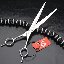 Wholesale Dog Blades - High Quality Professional 8.0 inches Stainless Steel Pet Grooming Curved Blade Hair Scissors For Cat And Dog Barber Shears