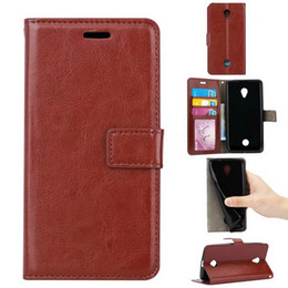Wholesale brand acer - For Lenovo Vibe B A2016 K6 Retro Flip Stand Wallet Cases Crazy Horse Leather photo frame Holder Cover For Acer Liquid Zest Z525