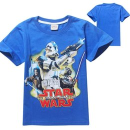 Wholesale Cartoon T Shirts For Kids - Fashion summer star wars cartoon children clothes for kids boys tee shirts short sleeve t shirt 100% cotton 4~12T
