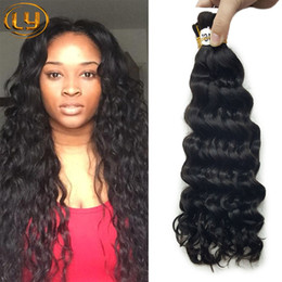 Wholesale Top Malaysian Quality Curly - Top Quality Brazilian Hair 50g Human Hair Braids Bulk Deep Wave No Weft Wet And Wavy Deep Curly Micro mini Braiding Bulk Hair