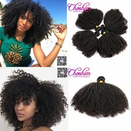 Wholesale Natural Rose Hair - Slove Rose Mongolian Afro Kinky Curly Unprocessd Virgin Hair Weave Bundle Human Hair Extension Slove Rosa Hair Products Natural Color