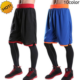 Wholesale Baggy Sweats - Wholesale- HOT Summer Indoor Loose Elastic Joggers Sweat Practice Game Ball Baggy Shorts Men Traning Beach Short Trousers Plus Size 7XL