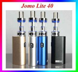 Wholesale E Cig Retail Packaging - JOMO Lite 40 New Jomo 40 Watt e cig box mod Lite 40w Vapor Mod kit 3ml Tank Built-in Battery with retail package