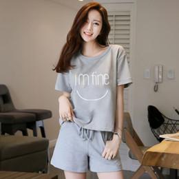 Wholesale Raglan Women - Women Gift Leisure Clothes Newest 2017 Summer Short Sleeved Women Pajamas Carton Pyjamas Lovely Sleepwear Women Nightwear