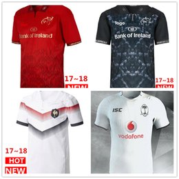 Wholesale France T Shirt - Hot sales 2017 2018 Fiji home and away Rugby Jerseys 17 18 Muenster City NRL National Rugby League France jersey t shirt s-3xl
